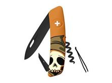 Immagine di Swiza D01 ALLBLACK HALLOWEEN SKULL HEAD ORANGE